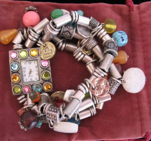 Beautiful Unique Beaded Charm Watch Womens wristwatch SOLD OUT