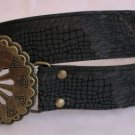 Black Faux Fur Womens Belt Accessories