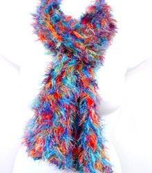 Multi colored MAGIC SCARF wrap muffler