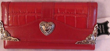 Womens red checkbook wallet inspired design clutch