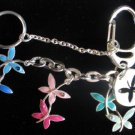 Butterfly bliss keychain Belt or Purse Clip