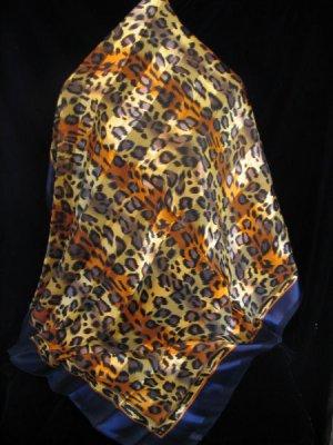 Animal print Large Square scarf Wrap Shawl AWESOME