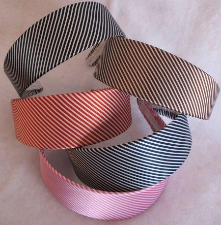 1 BLACK Striped Headband Womens Hair Accessories s