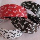 Brown headband Jolly Roger Skull & Crossbones NEW Item