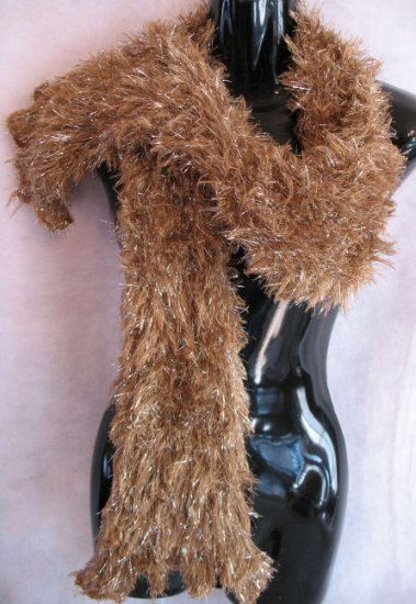 Golden Brown Magic Scarf with Silver Wrap