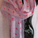 Breast Cancer Awarness Pink Lavender Scarf Scarves