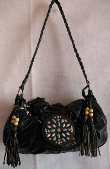 Beautiful Black Beaded bag :) Hot style!