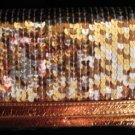 Bronze multi color Sequin checkbook wallet clutch CafeBug Women's Accessories