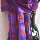 Red Hat Ladies Purple and Red Scarf Scarves Wrap CafeBug