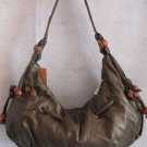 Large Metallic Mocha Wood beads Handbag bag purse
