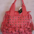 Flower Power studs Hot Pink Handbag bag purse handbags