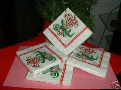 """HOLIDAY LUNCHEON NAPKINS,4-16CT,3PLY,13""""X13.5 PACKAGES"""