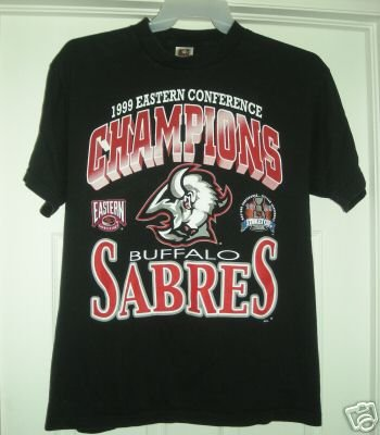 BUFFALO SABRES '99 EASTERN CONF CHAMPS TSHRT,LARGE *NEW