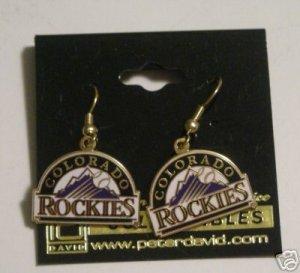 COLORADO ROCKIES GOLDTONE J-HOOK EARRINGS   *NEW*