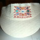 ARIZONA EMBROIDERED OFF-WHITE VISOR **NEW**