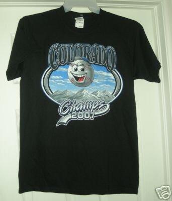 COLORADO CHAMPS 2007 T-SHIRT, MEDIUM *NEW