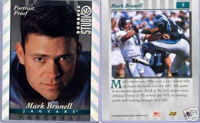MARK BRUNELL '97 STUDIO PORTRAIT PROOF SILV 8X10 MINT