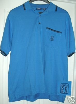 PGA TOUR GOLF EMBROIDERED POLO SHIRT, XLARGE **NEW**