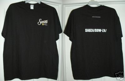 SAUZA TEQUILA T-SHIRT, LARGE **NEW**