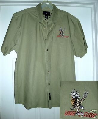 EAGLE CLAW BUTTON-DOWN SHORT SLEEVE SHIRT,SMALL **NEW**