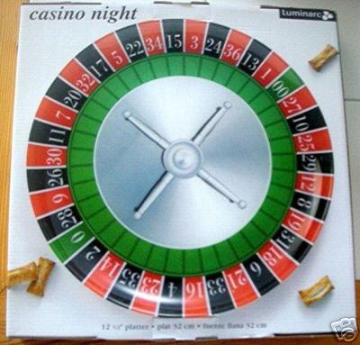 "CASINO NIGHT 12 1/2"" PLATTER by LUMINARC *NIB*"