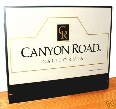 CANYON ROAD, CALIFORNIA WINERY SIGN  - METAL