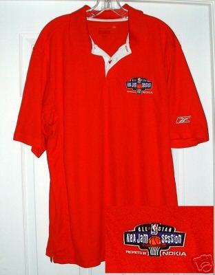 NBA ALL-STAR JAM SESSION EMBROIDERED POLO, LARGE *NEW*