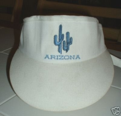ARIZONA EMBROIDERED WHITE VISOR **NEW**