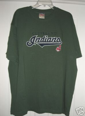 CLEVELAND INDIANS EMBROIDERED SHIRT, XL **NEW**