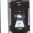 INDY RACE CAR CLOCK, DIE-CAST BLACK **NEW**