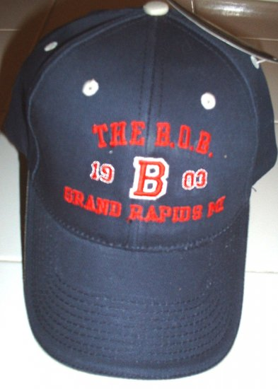 THE B.O.B.,GRAND RAPIDS, MI, EMBROIDERED BASEBALL CAP *NEW*