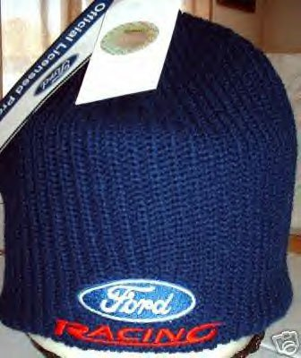 FORD RACING TEAM NASCAR KNIT CAP, NAVY BLUE **NEW**