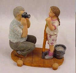 """BIG CATCH """"FISHING"""" FIGURINE by YOUNGS *NEW IN  BOX*"""