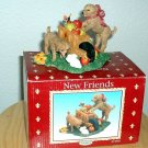 NEW FRIENDS (PUPPIES) FIGURINE by YOUNGS *NEW IN  BOX*