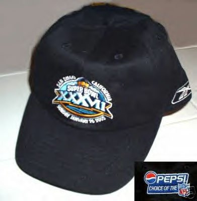 SUPER BOWL XXXVII OFFICIAL EMBROIDERED BALL CAP  *NEW*