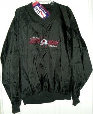 COLORADO AVALANCHE '96 STANLEY CUP PULLOVER, LARGE *NEW