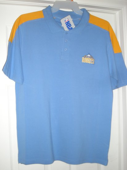 DENVER NUGGETS EMBROIDERED NBA POLO, LARGE  *NEW*