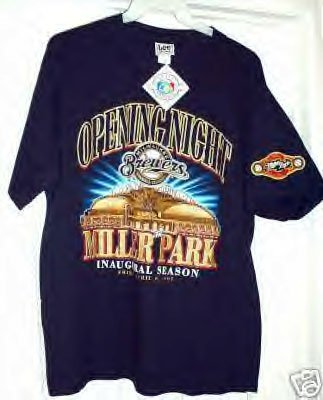 BREWERS MILLER PARK OPENING NIGHT T-SHRT, LARGE *NEW*