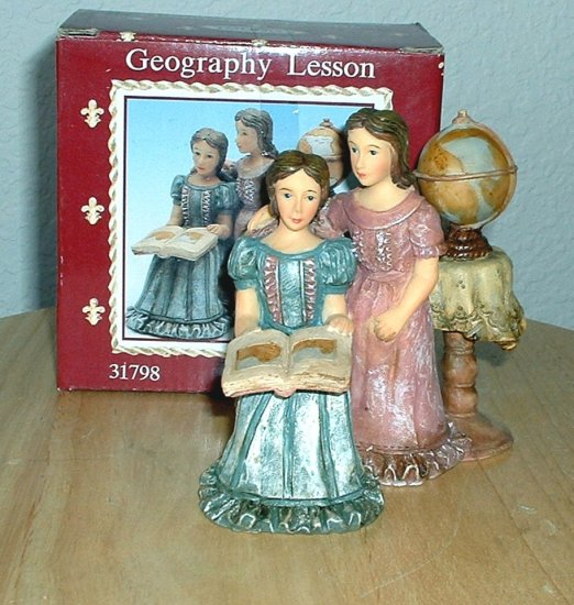 GEOGRAPHY LESSON FIGURINE by YOUNGS *NEW IN  BOX*