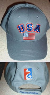 FIGURE SKATING TEAM USA EMBROIDERED BASEBALL CAP**NEW**