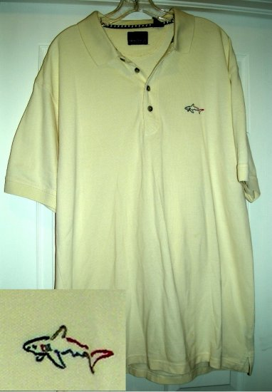 GREG NORMAN EMBROIDERED GOLF SHIRT, XLARGE **NEW**