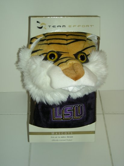 """LSU TIGERS """"MIKE THE TIGER"""" HEADCOVER, OVERSIZE TO 460cc *NEW*"""