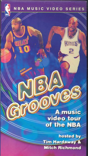NBA GROOVES - NBA MUSIC VIDEO SERIES - VHS, **NIB**