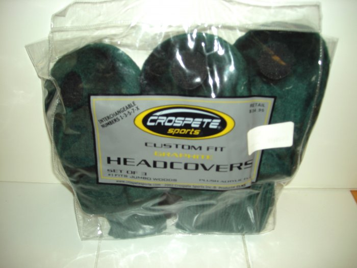 GRAPHITE HEADCOVERS, 3 ACRYLIC FUR GREEN *NEW*