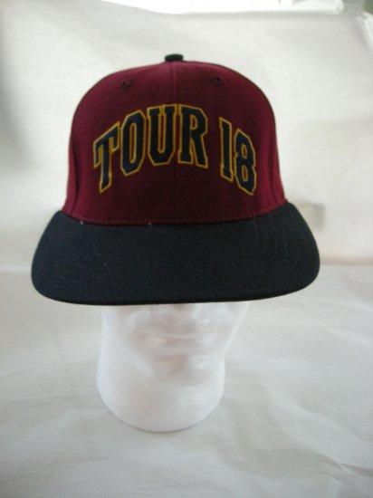 TOUR 18 GOLF EMBROIDERED BALL CAP, BURGUNDY/BLACK *NEW*