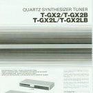 JVC T-GX2/B/L/LB STEREO TUNER OWNER'S MANUAL *NEW*