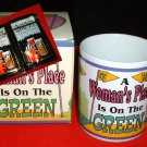 "GOLFER'S MUG:""A WOMAN'S PLACE IS ON THE GREEN"" *NEW*"