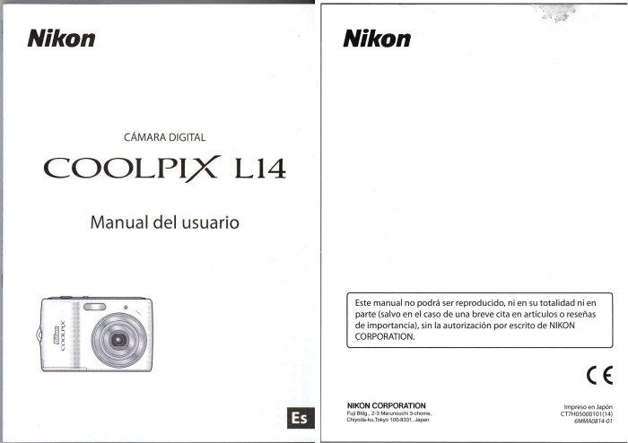 NIKON L14 SPANISH VERSION OWNER'S MANUAL *NEW*