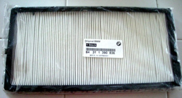 BMW CABIN AIR MICROFILTER #64311390836 *NEW*