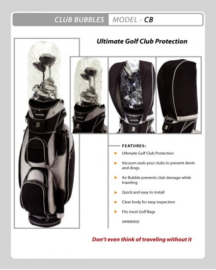 GOLF CLUB BUBBLE TRAVEL PROTECTION  *NEW IN PACKAGE*